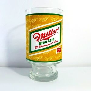 Vintage Miller High Life beer glass